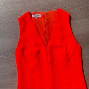 Narciso Rodriguez Orange Bond Crepe Shift Dress
